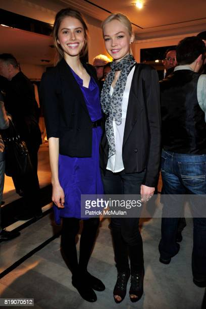 Taryn Davidson and Siri Tollerod attend BERGDORF GOODMAN Celebrates 30 Seasons of STEVEN KLEIN With AKRIS at Bergdorf Goodman on March 18 2010 in New...