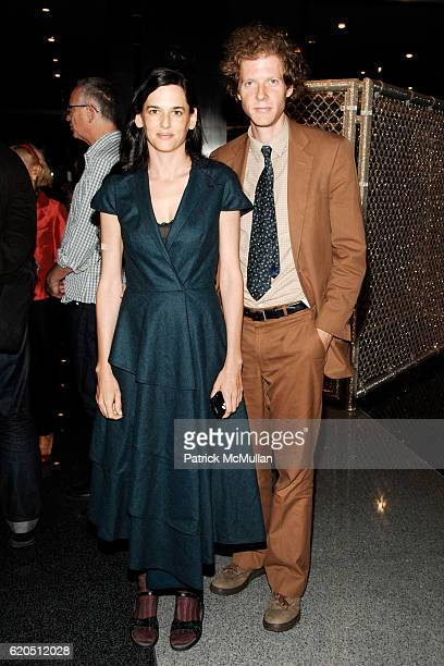 Taryn Simon and Jake Paltrow attend Opening of LIZA LOU's 'Maximum Security Fence' at LEVER HOUSE at Lever House on September 24 2008 in New York City