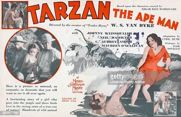 'Tarzan The Ape Man' a 1932 American action adventure film starring Johnny Weissmuller Neil Hamilson C Aubrey Smith and Maureen O'Sullivan