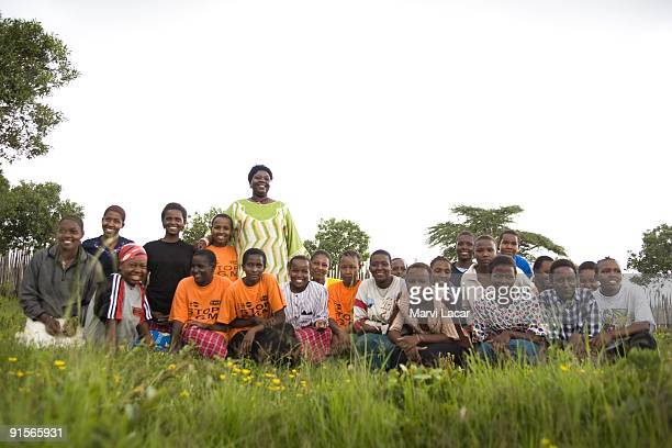Tasaru Safehouse for Girls founder Agnes Pareyio poses for a portrait with center beneficiaries December 30 in Narok Kenya The Tasaru Safehouse...