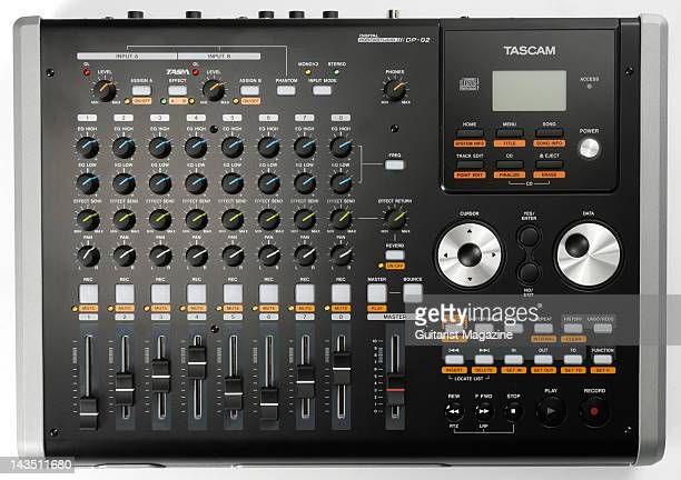 A Tascam DP02 Digital Portastudio personal studio recorder during a studio shoot for Guitarist Magazine April 1 2008
