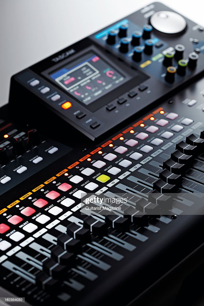 A Tascam DP24 portable digital multitrack recorder photographed during a studio shoot for Guitarist Magazine July 20 2012