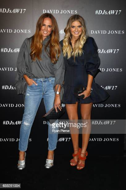 Tash Sefton and Elle Ferguson arrive ahead of the David Jones Autumn Winter 2017 Collections Launch at St Mary's Cathedral Precinct on February 1...