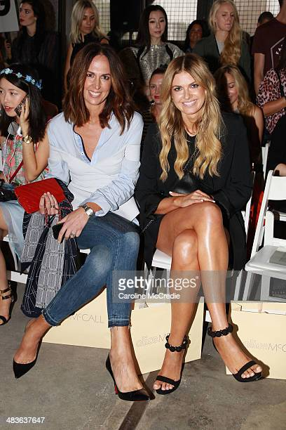 Tash Sefton and Elle Ferguson attend the Alice McCall show during MercedesBenz Fashion Week Australia 2014 at Carriageworks on April 10 2014 in...