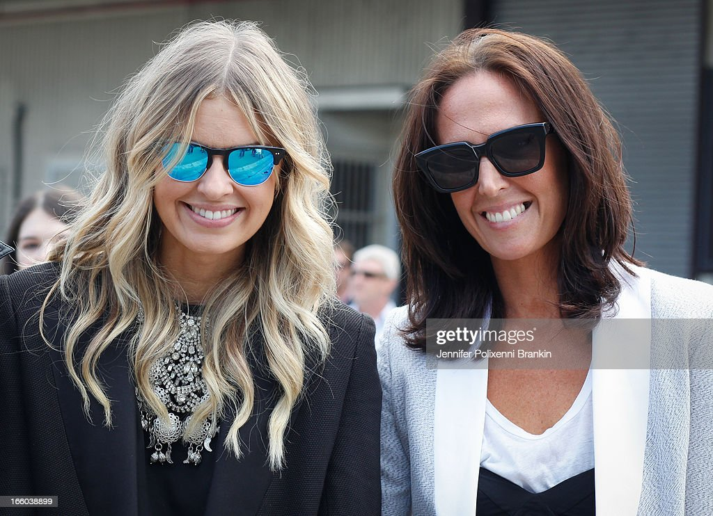 Tash Sefton and Elle Ferguson attend the Christopher Esber show during Mercedes-Benz Fashion Week Australia Spring/Summer 2013/14 at 10 Carrington Rd, Marrickville, on April 8, 2013 in Sydney, Australia.