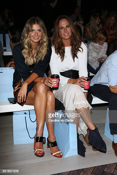Tash Sefton and Elle Ferguson attend the MacGraw show at MercedesBenz Fashion Week Resort 17 Collections at Carriageworks on May 17 2016 in Sydney...