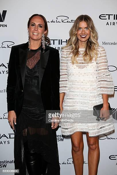 Tash Sefton and Elle Ferguson attend the Oscar de la Renta show presented by Etihad Airways at MercedesBenz Fashion Week Resort 17 Collections at...