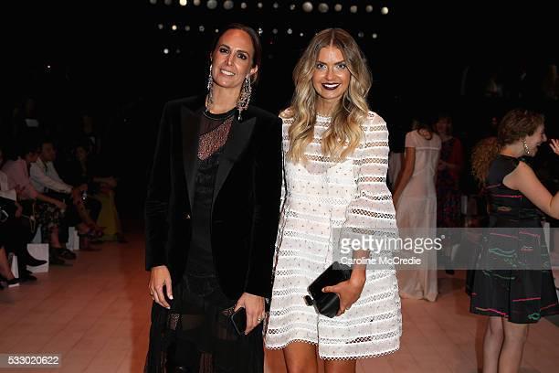 Tash Sefton and Elle Ferguson attends the Oscar de la Renta show presented by Etihad Airways at MercedesBenz Fashion Week Resort 17 Collections at...