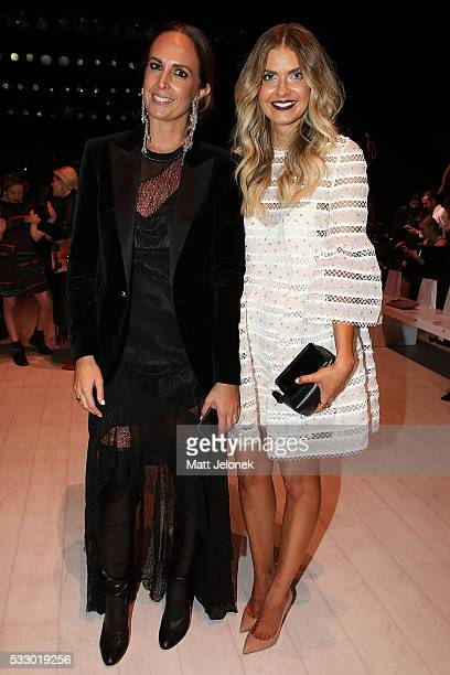 Tash Sefton Elle Ferguson attend the Oscar de la Renta show presented by Etihad Airways at MercedesBenz Fashion Week Resort 17 Collections at...