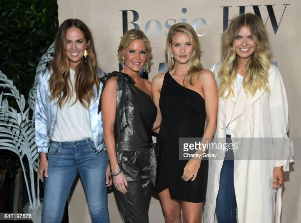 Tash Sefton Paige AdamsGeller Rosie HuntingtonWhiteley and Elle Ferguson celebrate the launch of the Rosie HW x PAIGE Collection at Ysabel on...