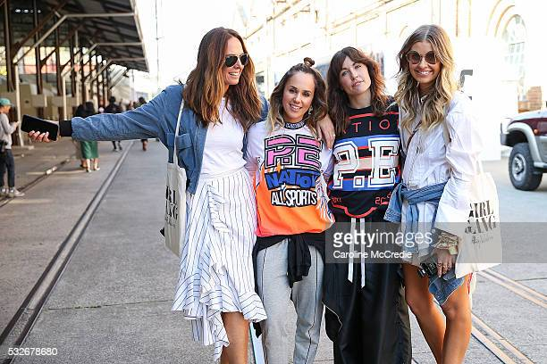 Tash Sefton Pip Edwards Claire Tregoning and Elle Ferguson at MercedesBenz Fashion Week Resort 17 Collections at Carriageworks on May 19 2016 in...