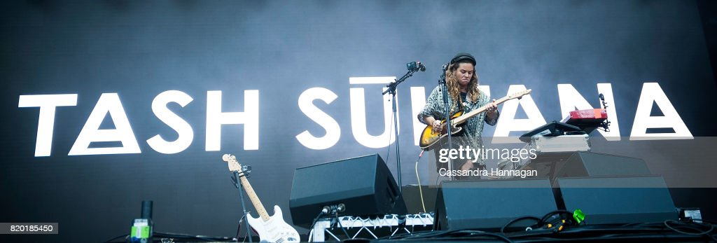 Tash Sultana performs for fans during Splendour in the Grass 2017 on July 21, 2017 in Byron Bay, Australia.