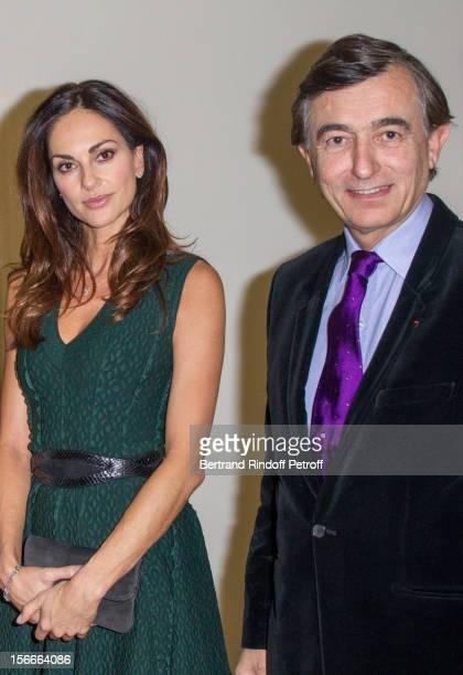 Tasha de Vasconcelos and Philippe DousteBlazy attend Dali Private Exhibition Preview at Centre Pompidou on November 18 2012 in Paris France