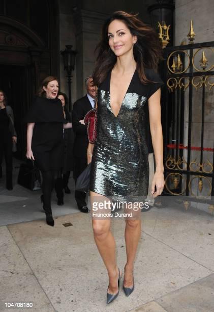 Tasha de Vasconcelos arrives for the Stella McCartney Ready to Wear Spring/Summer 2011 show during Paris Fashion Week at Opera Garnier on October 4...