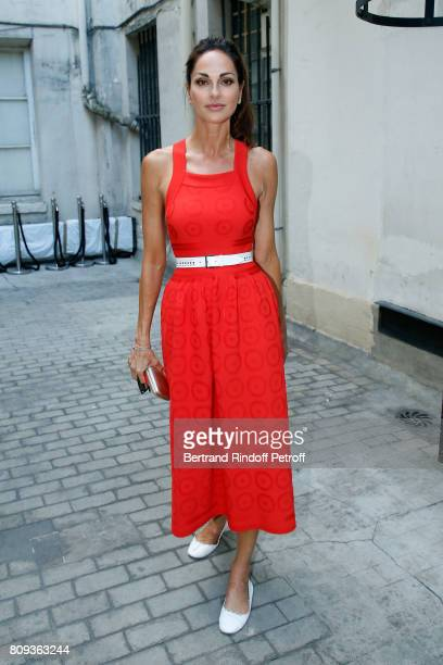 Tasha de Vasconcelos attends the Azzedine Alaia Fashion Show as part of Haute Couture Paris Fashion Week Held at Azzedine Alaia Gallery on July 5...
