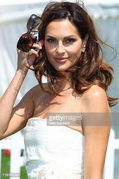 Tasha De Vasconcelos attends the Cartier International Polo Day 2011 at Guards Polo Club on July 24 2011 in Egham England
