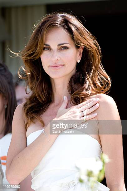 Tasha De Vasconcelos attends the Cartier International Polo Day at Guards Polo Club on July 24 2011 in Egham England