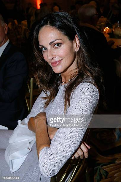 PARIS FRANCE SEPTEMBER Tasha de Vasconcelos attends the Charity Dinner to Benefit 'Claude Pompidou Foundation' following the 'Cezanne et Moi' movie...