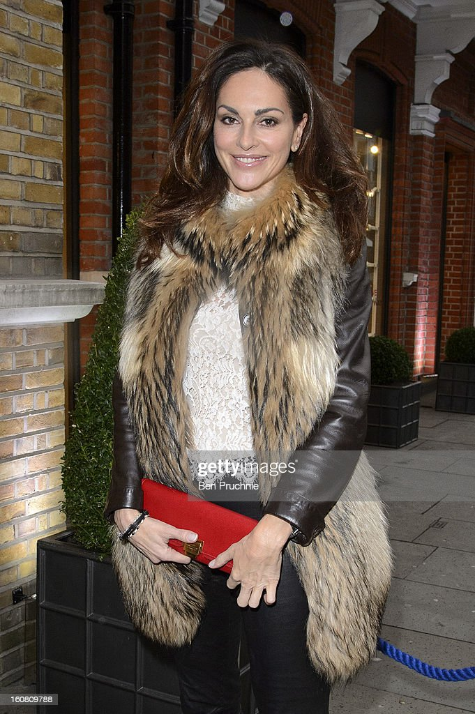 Tasha de Vasconcelos attends the Smythson of Bond Street's afternoon tea party, celebrating the opening of their new Sloane Street store, on February 6, 2013 in London, England.