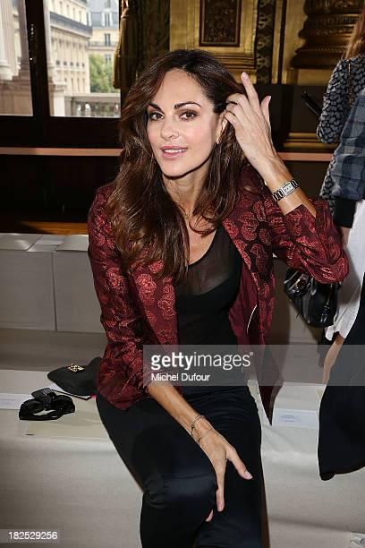 Tasha de Vasconcelos attends the Stella McCartney show as part of the Paris Fashion Week Womenswear Spring/Summer 2014 on September 30 2013 in Paris...