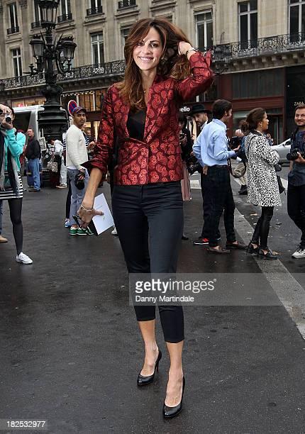 Tasha de Vasconcelos attends the Stella McCartney show at L'Opera de Paris during Paris Fashion Week Womenswear Spring/Summer 2014 on September 30...