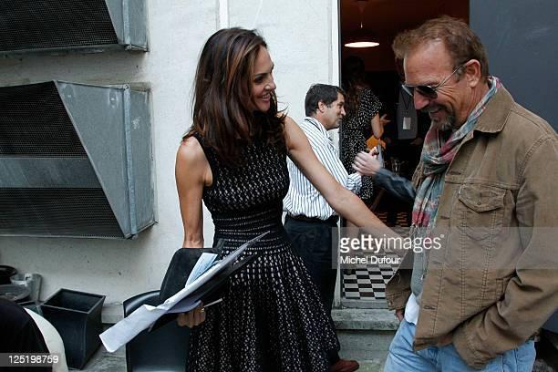 Tasha de Vasconcelos Meets Kevin Costner Aftershow At La Cigale on September 16 2011 in Paris France