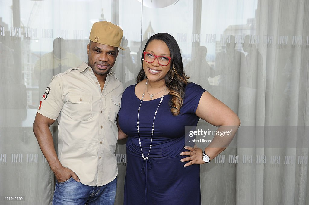 Tasha PageLockhart and Kirk Franklin attend a listening session for her 'Here Right Now' album at BMI on July 9 2014 in New York City
