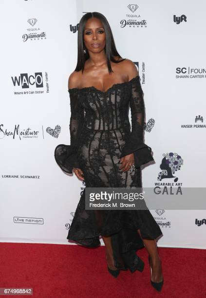 Tasha Smith attends the Wearable Art Gala at California African American Museum on April 29 2017 in Los Angeles California
