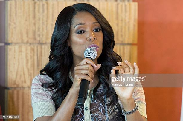 Tasha Smith attends Tyler Perry's 'If Loving You Is Wrong' 'For Better Or Worse' Press Reception at Twelve Atlantic Station Hotel on March 24 2015 in...