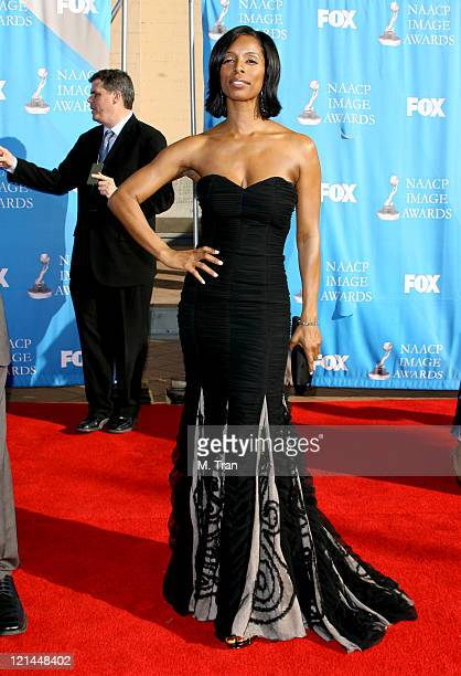 Tasha Smith during 38th Annual NAACP Image Awards Arrivals at Shrine Auditorium in Los Angeles California United States