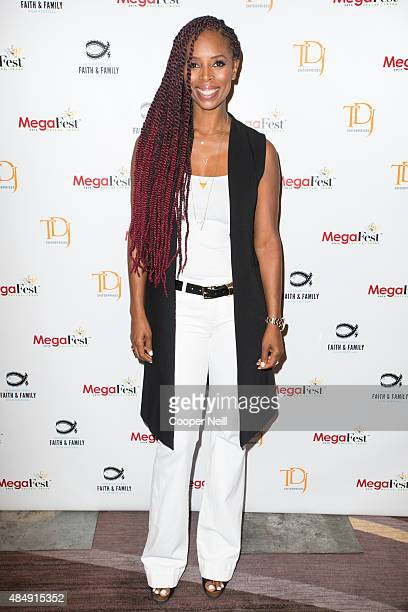 Tasha Smith poses for a photo at MegaFest on August 22 2015 in Dallas Texas