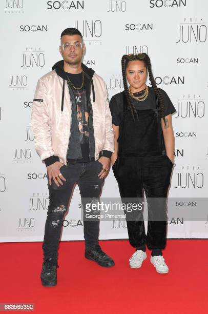 Tasha The Amazon and Dan Thrax attend the 2017 Juno Gala Dinner and Awards at Shaw Centre on April 1 2017 in Ottawa Canada