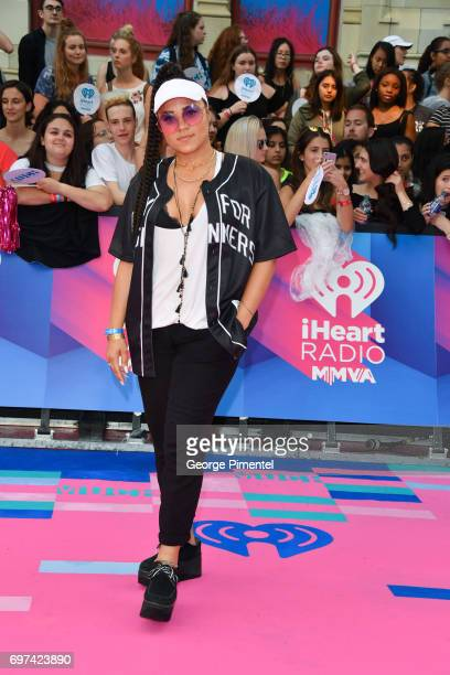 Tasha the Amazon arrives at the 2017 iHeartRADIO MuchMusic Video Awards at MuchMusic HQ on June 18 2017 in Toronto Canada