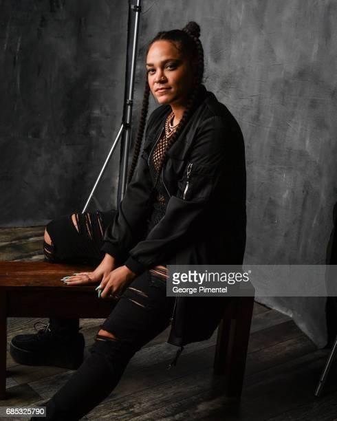 Tasha The Amazon poses at the 2017 Juno Awards Portrait Studio at the Canadian Tire Centre on April 1 2017 in Ottawa Canada