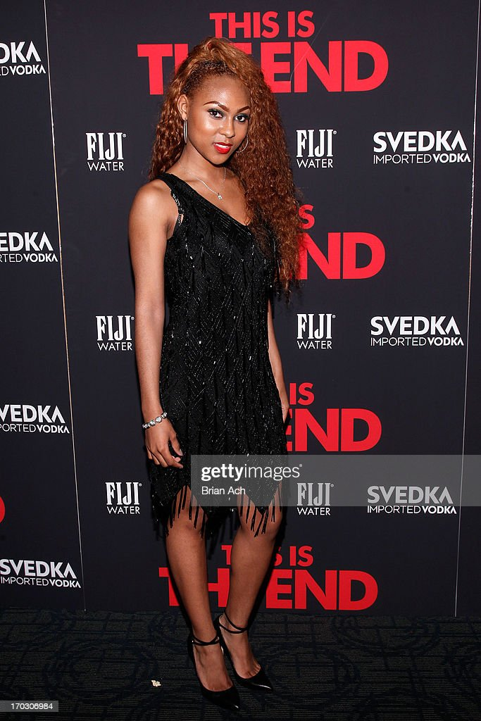 Tashiana Washington attends a special New York screening of Columbia Pictures' 'This Is The End' presented by FIJI water on June 10, 2013 in New York City.