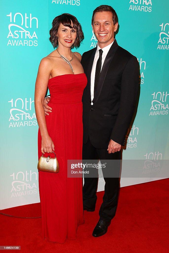 Tasma Walton and Rove McManus arrive at the 10th annual Astra Awards at Sydney Theatre on June 21, 2012 in Sydney, Australia.