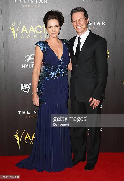Tasma Walton and Rove McManus arrives at the 4th AACTA Awards Ceremony at The Star on January 29 2015 in Sydney Australia