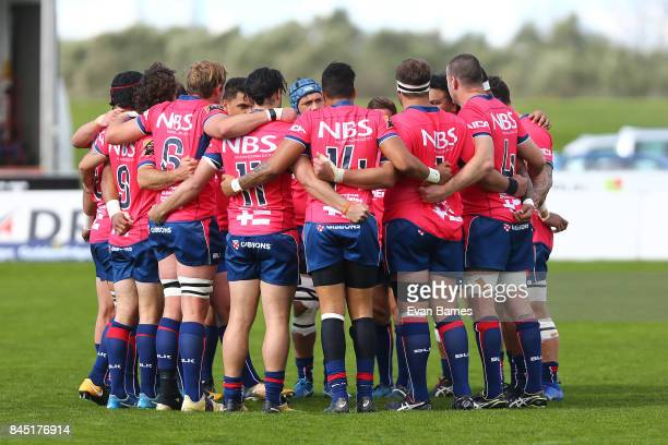 Tasman at the start of round four Mitre 10 Cup match between Tasman and Wellington at Lansdowne Park on September 10 2017 in Blenheim New Zealand