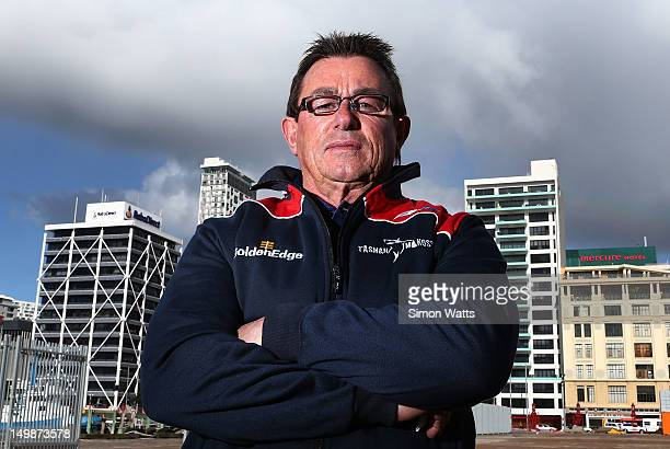Tasman coach Kieran Keane poses during the 2012 ITM Cup season launch at Shed 10 Queens Wharf on August 6 2012 in Auckland New Zealand