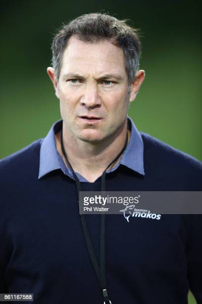 Tasman coach Leon McDonald during the round nine Mitre 10 Cup match between Counties Manukau and Tasman at ECOLight Stadium on October 14 2017 in...