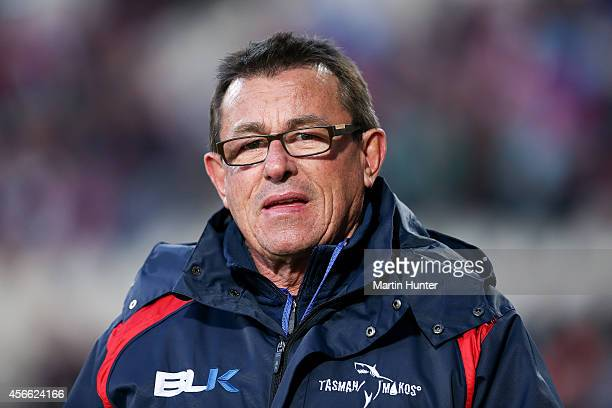 Tasman Makos coach Kieran Keane looks on prior to the ITM Cup match between Canterbury and Tasman at AMI Stadium on October 4 2014 in Christchurch...