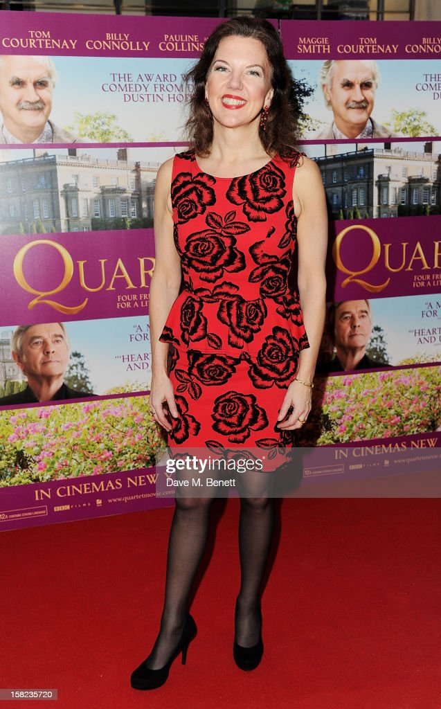 Tasmin Little attends a Gala Screening of 'Quartet' at Odeon West End on December 11, 2012 in London, England.