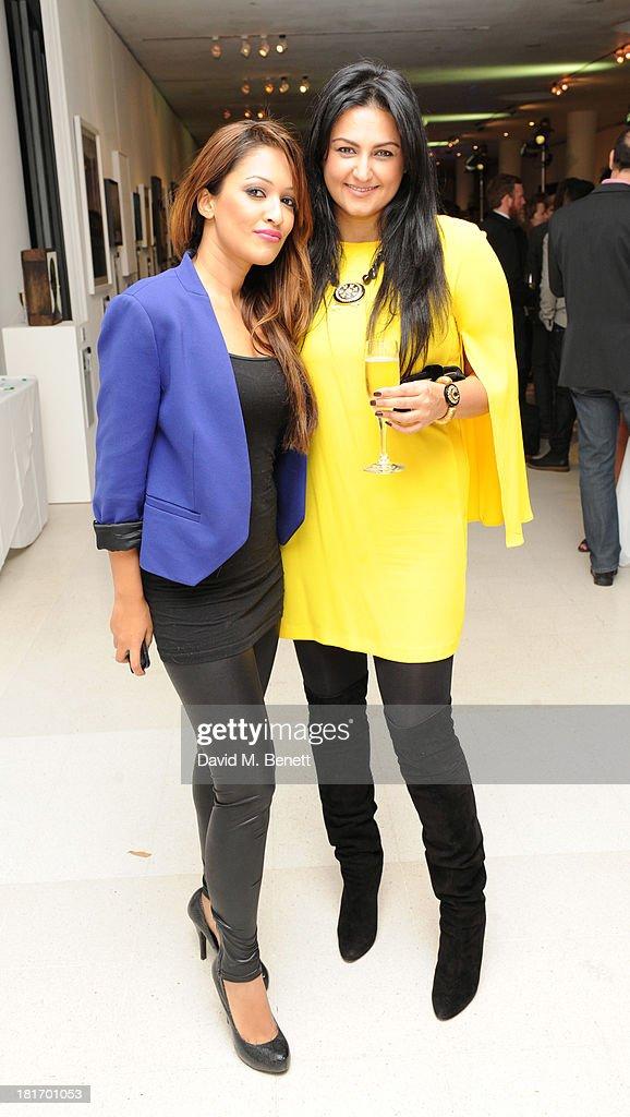 Tasmin Lucia Khan and Kiran Sharma attend the Macmillan De'Longhi Art Auction at Royal College of Art on September 23, 2013 in London, England.