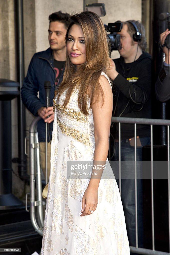 Tasmin Lucia Khan attends The Asian Awards at Grosvenor House, on April 16, 2013 in London, England.