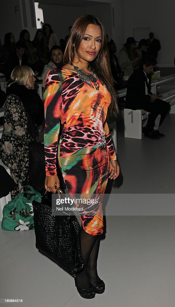 Tasmin Lucia-Kahn seen at the Maria Grachvogel fashion show at Somerset House on September 17, 2013 in London, England.