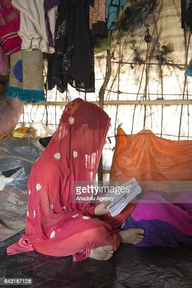 COX'S BAZAR BANGLADESH FEBRUARY 20 Tasmin one of the women who were raped by Myanmar armed forces members takes shelter at Leda unregistered Rohingya...