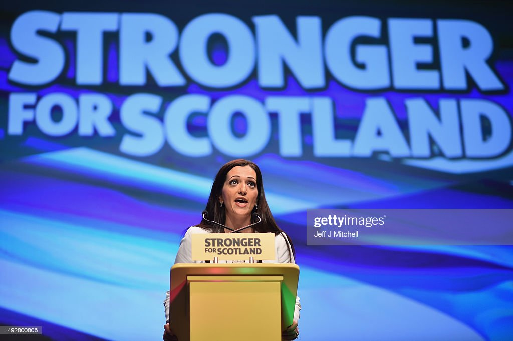 Tasmina Ahmed Sheikh MP addresses to the 81st annual conference at the Aberdeen Exhibition and Conference Centre on October 15, 2015 in Aberdeen,Scotland. SNP hold their first conference this week since the landslide victory in the May 2015 general election.