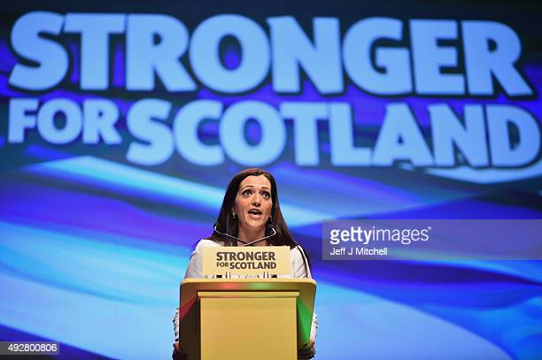 Tasmina Ahmed Sheikh MP addresses to the 81st annual conference at the Aberdeen Exhibition and Conference Centre on October 15 2015 in...