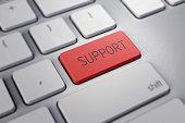 Tastatur mit Support Taste rot