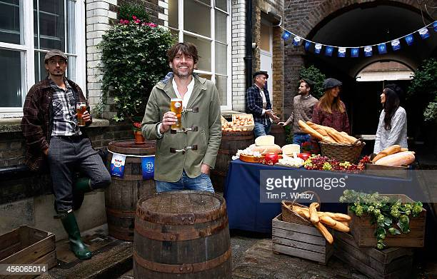 Tastemaker Alex James joins the celebrations of the 350th anniversary of the first Kronenbourg brewery at Le Cafe Du Marche on September 24 2014 in...